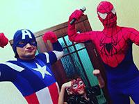Спайдермен и Капитан Америка
