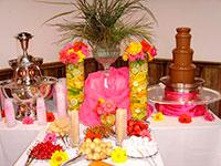 Шоколадный и лимонадный фонтан