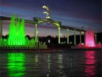 Фонтаны на площади Мустакиллик