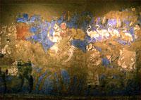 Фреска в музее Афросиаб