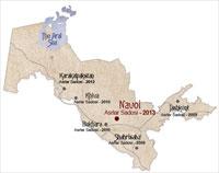 Карта Узбекистана