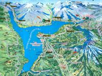 Карта курортов Чарвака, Чимгана и Бельдерсая