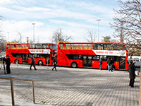 Double-decker buses in Tashkent city
