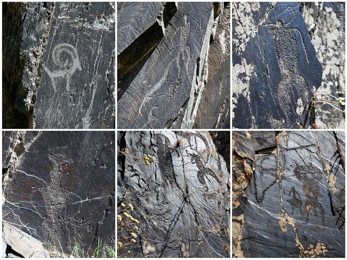 Петроглифы в ущелье Сармыш